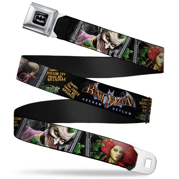 Batman Full Color Black Silver Black Batman Arkham Asylum Patients Joker Seatbelt Belt