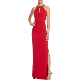 Laundry by Shelli Segal Womens Evening Dress Embellished Ruched