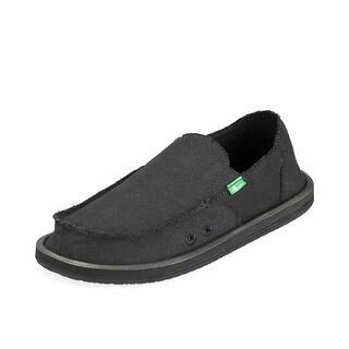 Sanuk Casual Shoes Mens Vagabond Frayed Edge Canvas Slip On