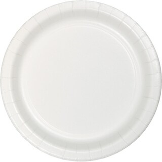 Club Pack of 900 White Disposable Paper Party Banquet Dinner Plates 9""