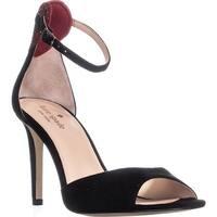 Kate Spade New York Olidah Peep Toe Ankle Strap Sandals, Black - 9 us
