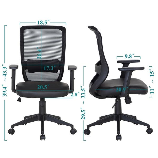 Wondrous Shop Office Chair Mesh Surface Cushion Adjustable Swivel Gmtry Best Dining Table And Chair Ideas Images Gmtryco