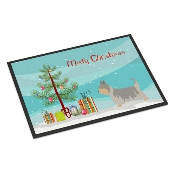 Carolines Treasures BB8469MAT Australian Silky Terrier Christmas Indoor or Outdoor Mat - 18 x 27 in.