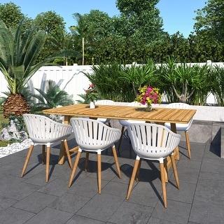 Amazonia Branford 7-Piece Certified Teak Patio Dining set