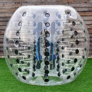 Costway 1 PC 1.5M Inflatable Bumper Ball Body Zorbing Ball Zorb Bubble Soccer/Football - Black
