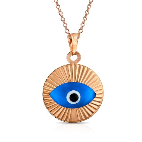Turkish Spiritual Moving Evil Eye Pendant Necklace 925 Sterling Silver -  Overstock - 30632985