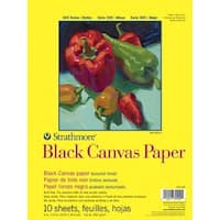 Strathmore 300 Series Black Canvas Paper Pad, 9 x 12 Inches