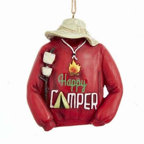 Happy Camper Sweatshirt Ornament