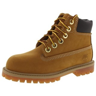 "Timberland Boys 6"" Premium Ankle Boots Waterproof Lace Up"