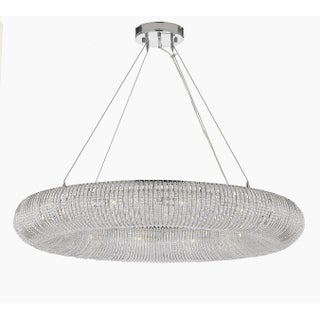 "Crystal Halo Chandelier Modern / Contemporary Floating Orb 41"" Wide"