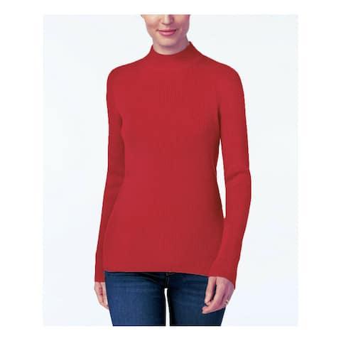 KAREN SCOTT Womens Red Long Sleeve Sweater Size XL
