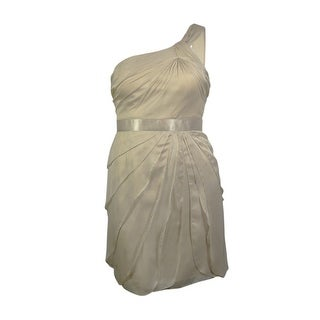 Adrianna Papell Women's Tiered Chiffon One Shoulder Dress