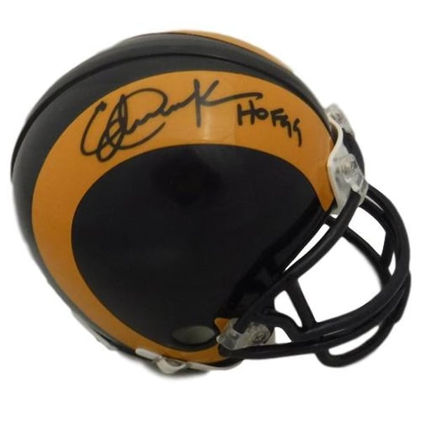 c9e596c9 Shop Eric Dickerson Autographed Los Angeles Rams Mini Helmet HOF BAS - Free  Shipping Today - Overstock - 23076638