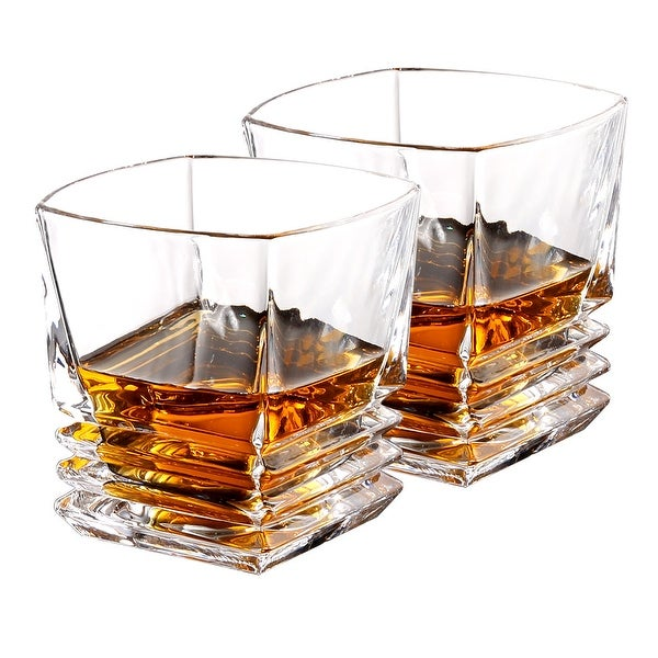 ec94a8db23 Shop LANGRIA Set of 2 Whiskey and Scotch Glasses 10-Ounce - On Sale ...