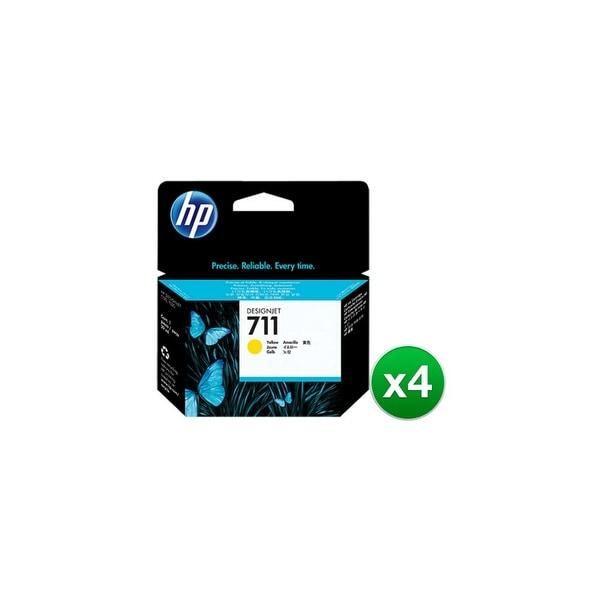 HP 711 80-ml Yellow DesignJet Ink Cartridge (CZ132A)(4-Pack)