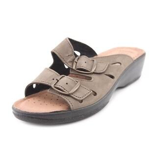 Spring Step Decca Women Open Toe Leather Slides Sandal