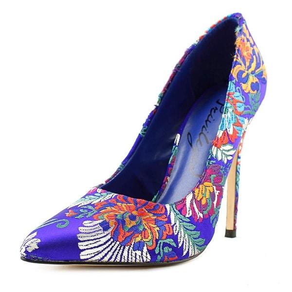 Privileged Jada Women Pointed Toe Synthetic Blue Heels