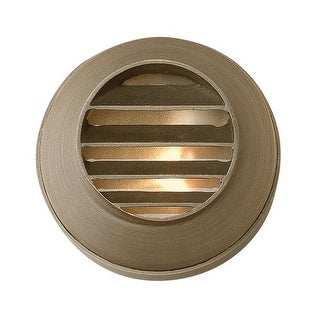 """Hinkley Lighting 16804 12v 20w Solid Brass 3.5"""" Diameter Landscape Recessed Louvered Step Light from the Hardy Island Collection"""