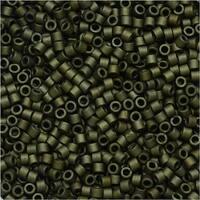 Miyuki Delica Seed Beads 11/0 - Matte Metallic Olive Green DB311 7.2 Grams