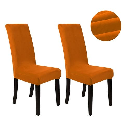 Velvet Spandex Stretch Dining Chair Covers