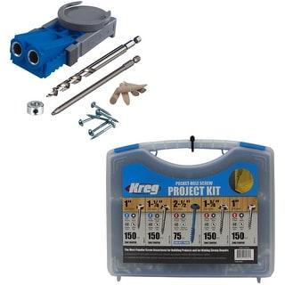 Kreg R3 Jr. Pocket Hole Jig System and Pocket-Hole Screw Kit - Blue