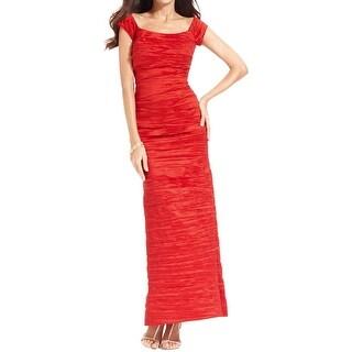 Alex Evenings Womens Formal Dress Taffeta Off-The-Shoulder