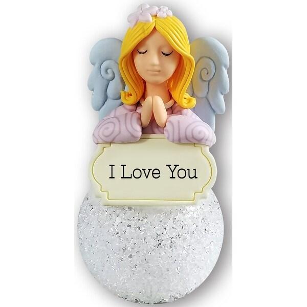 Spoontiques 510-015 i love you angel ornament