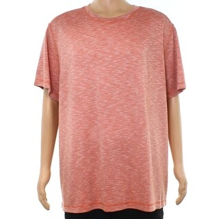 Tasso Elba Red Mens Size XL Striped Spacedye Crewneck Tee T-Shirt