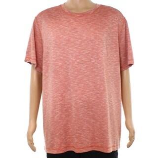Tasso Elba Red Mens Size Large L Space-Dye Short-Sleeve Tee T-Shirt