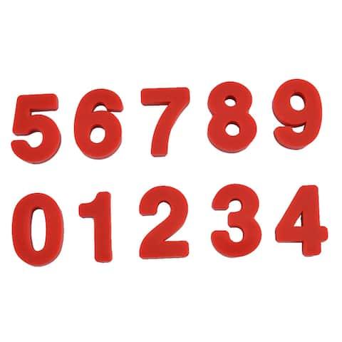 """Fridge Refrigerator Blackboard Plastic Number Design Magnet Set - 8.4"""" x 4.0"""" x 0.2""""(L*W*T)"""