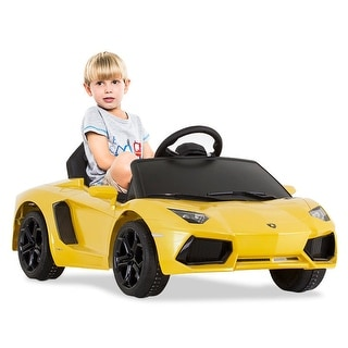 Costway Lamborghini Aventador LP700-4 Licensed 6V Kids Ride On Car RC Remote Control