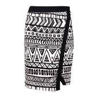 INC International Concepts Women's Printed Knit Envelope Skirt (S, Cave Tribal) - cave tribal - S