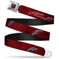 Freddy Krueger Blade Hand Full Color Black Blood Splatter A Nightmare On Seatbelt Belt