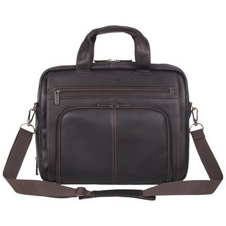 "Link to Kenneth Cole Reaction 'Out of the Bag' Colombian Leather Top Zip 15.6"" Laptop Business Portfolio With RFID Similar Items in Briefcases"