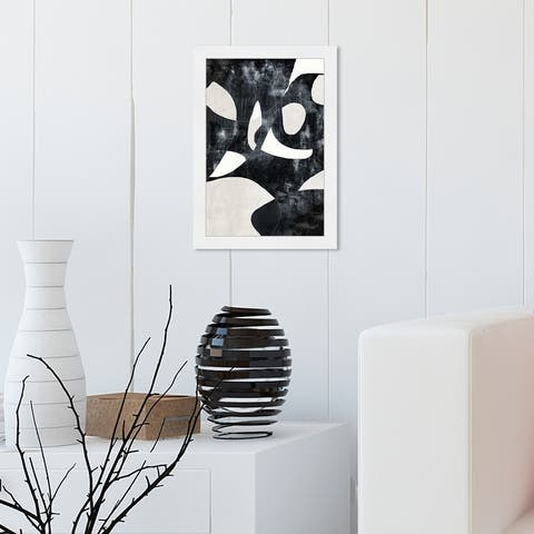 Oliver Gal 'All Of Me' Abstract Framed Wall Art Prints Geometric - Black, White