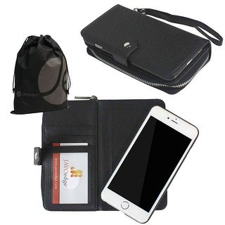 "JAVOedge Wallet Case with Zipper Pouch and Removable Back Cover for Apple iPhone 6 (4.7"")"