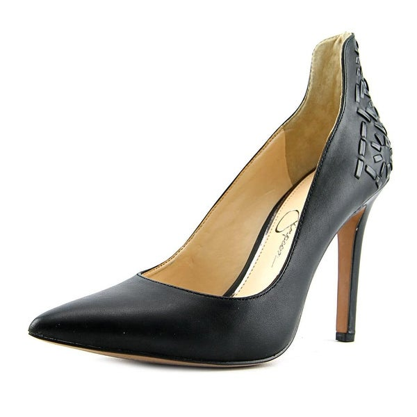 Jessica Simpson Crampell Women  Pointed Toe Leather Black Heels