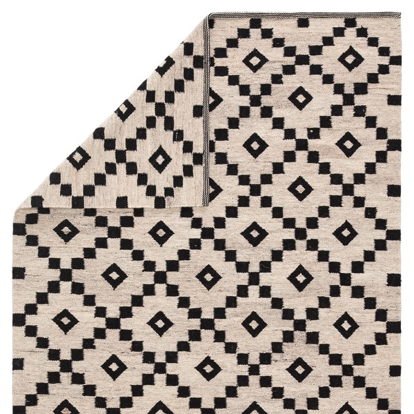 Folke Handmade Geometric Black White Area Rug On Sale Overstock 8577207