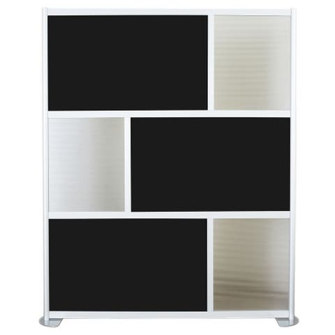 """SpaceMakers 6 Panel Modern Room Divider 76""""w x 78""""t"""