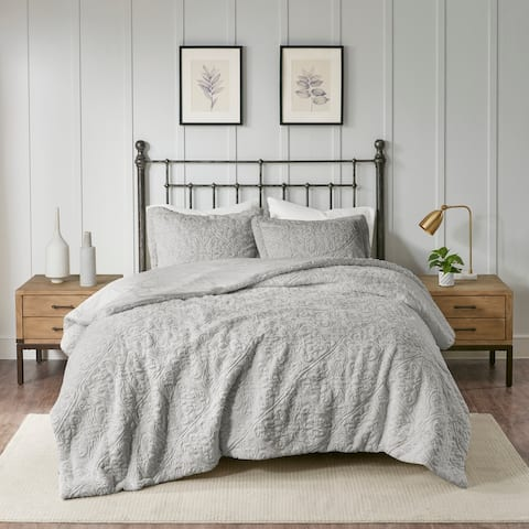 Madison Park Syracuse Grey Ultra Plush Comforter Set
