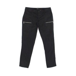 Supplies Deep Black Womens Size 16W Plus Zip-Detail Cargo Pants