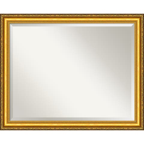 Wall Mirror Large, Colonial Embossed Gold 32 x 26-inch - large - 32 x 26-inch