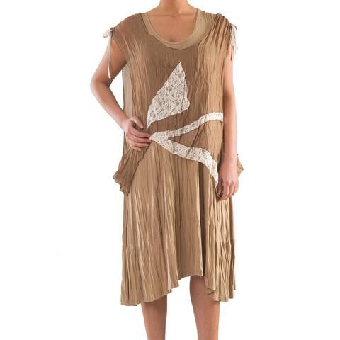 2 Piece Knit Dress with Lace - Women's Plus Size Dresses - Summer Dress - La Mouette Collection