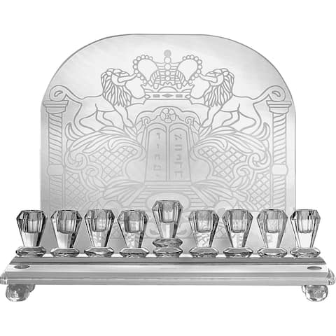 Crystal Wall Menorah 10.5 X 9.5 In. - Pictured