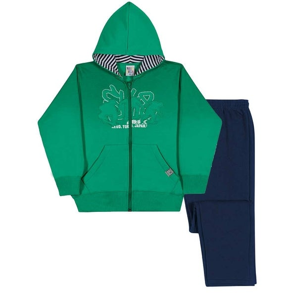 Boys Outfit Zip-Up Hoodie Jacket and Pants Kids Set Pulla Bulla Sizes 2-10 Years