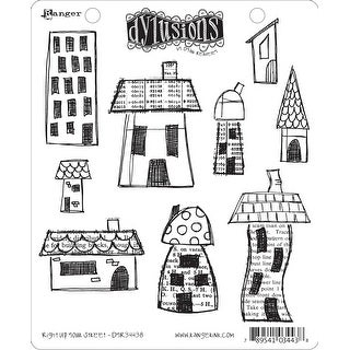 """Dyan Reaveley's Dylusions Cling Stamp Collections 8.5""""X7""""-Right Up Your Street"""