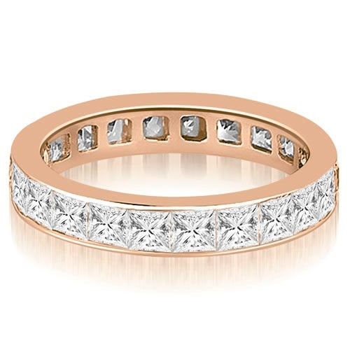 3.50 cttw. 14K Rose Gold Princess Channel Eternity Ring