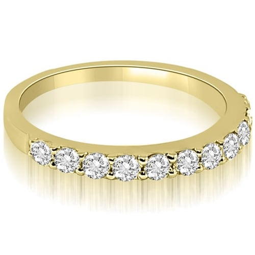 0.55 cttw. 14K Yellow Gold Classic Round Cut Diamond Wedding Ring