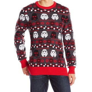 Star Wars Red Mens Size Small S Darth Vader Holiday Crewneck Sweater