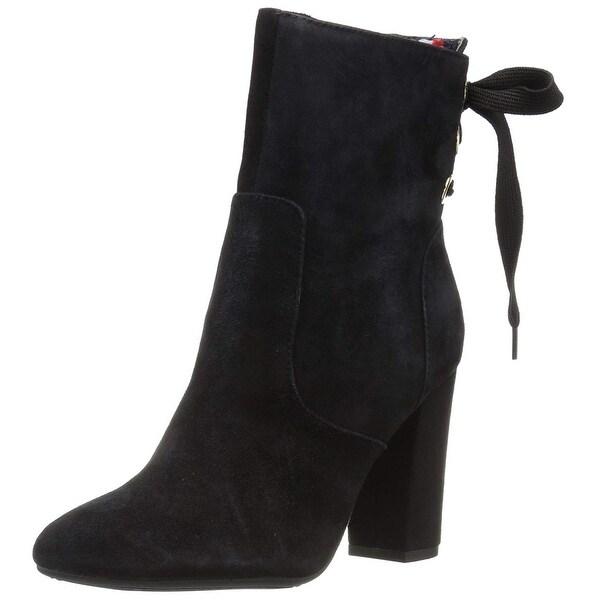 2e4bb965c Shop Tommy Hilfiger Womens Divah Leather Almond Toe Ankle Fashion ...